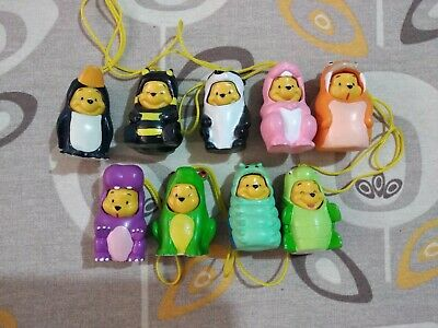 WINNIE POOH ANIMAL WEAR LARGE figure collection lotto 9 pezzi TOMY