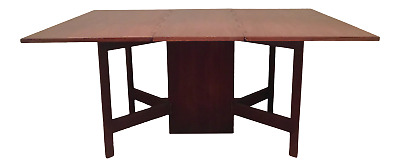 George Nelson Walnut 4656 Vintage Gateleg Table Herman Miller Mid Century Modern