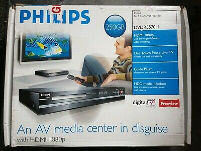 Philips DVDR5570H DVD HDD Player Recorder 250GB 1080p