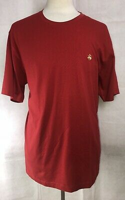 Brooks Brothers 1818 Short Sleeve T-shirt Red With Gold Logo Men's XXL