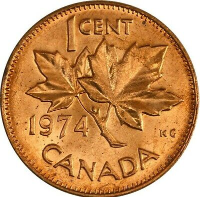 1974 CANADA 1 Cent Copper Penny Uncirculated