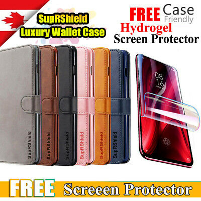 For Samsung Galaxy A20| A30| Genuine SupRShield Wallet Leather Flip Case Cover