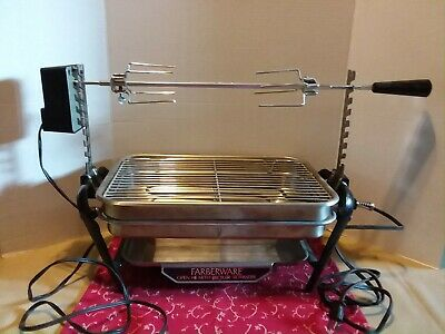 Farberware Open Hearth Electric Broiler & Rotisserie ~