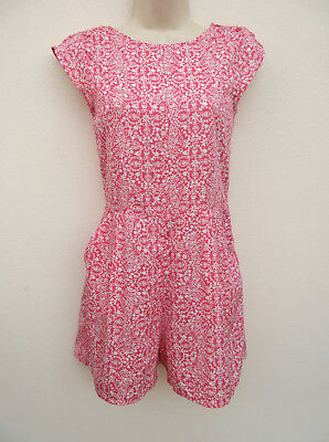 Next - Girls Pink / Cream Silky Feel Playsuit - size 12 Years