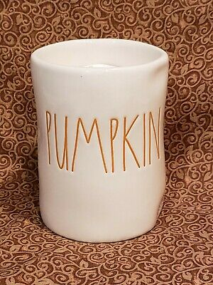 Rae Dunn Pumpkin Spice Scented Candle By Magenta - Fall - Thanksgiving Orange LL