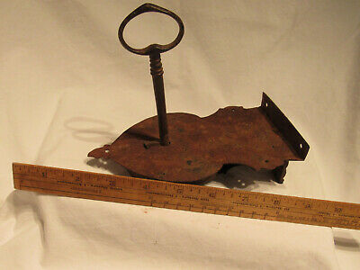 Antique Lock And Key For 18Th Century Chest Hand Made Barn Find Working Rare