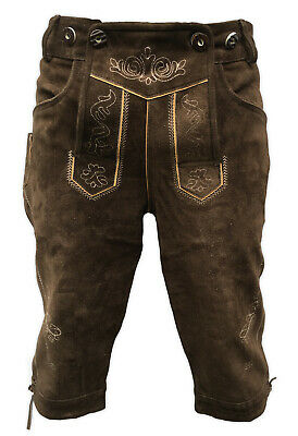 Lederhosen Leather Mens German Bavarian Trachten Oktoberfest Beerfest Uk 32""