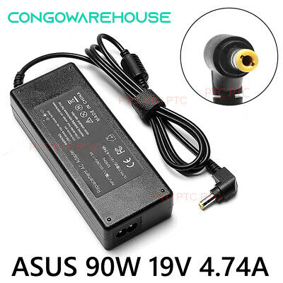 Certified ASUS Toshiba Laptop 19V 4.74A 90W AC Adapter Charger Power Supply+Cord