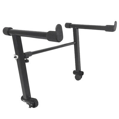 Adjustable Black Heightening Electronic Piano Rack Stand Keyboard Support H A1A5