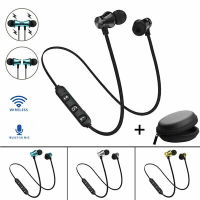 Cool Bluetooth4.2 Earphone In-Ear Wireless Stereo Magnetic Earbud For All Phone