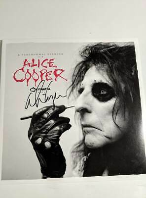 ALICE COOPER Signed LIVE AT THE OLYMPIA 2-LP set AUTOGRAPHED 100% Authentic