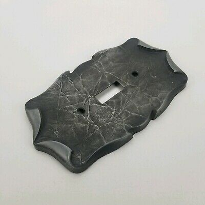 Vintage Amerock Antique Pewter CARRIAGE HOUSE Single Switch Wall Plate Cover