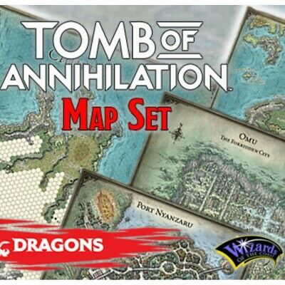 Dungeons & Dragons 5th Edition Tomb Of Annihilation Map Set