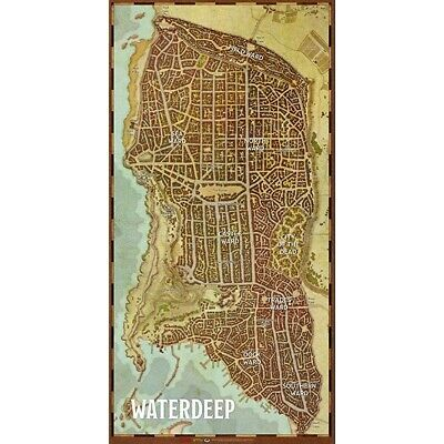 Dungeons & Dragons 5th Edition Waterdeep City Map (Huge Vinyl!)