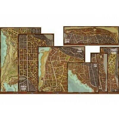 Dungeons & Dragons 5th Edition Waterdeep Dragon Heist Wards Map Set (Vinyl)