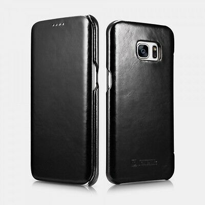 Samsung Galaxy S7 Edge Leather Case Luxury Vintage Black