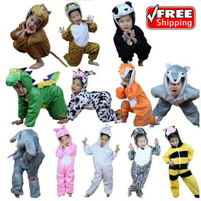 Umorden Children Kids Animal Costume Cosplay Jumpsuit for Boy Girl Free Shipping