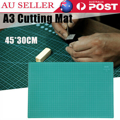 A3 PVC Self Healing Cutting Mat Craft Quilting Grid Lines Printed Board Cut NEW
