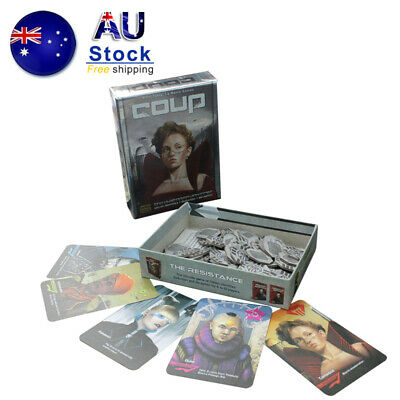 NEW coup card game Deception Secret Identities  Board Game Family Party Game