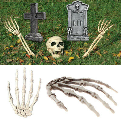 Skull Hand Skeleton Haunted House Plastic Bar Halloween Party Decor Prop