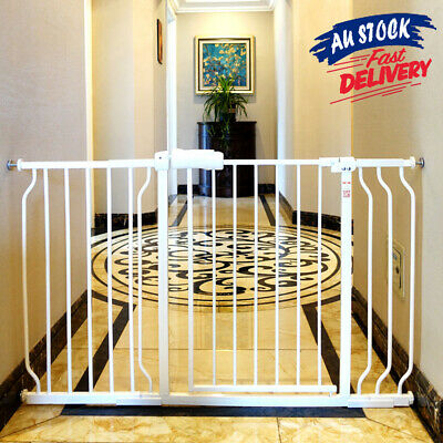 75-86cm Adjustable Safety Gate Pet Baby Extension Barrier Child Extra Wide