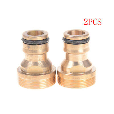 2Pcs Threaded Hose Water Pipe Connector Snap Adaptor Fitting Garden Outdoor_HV