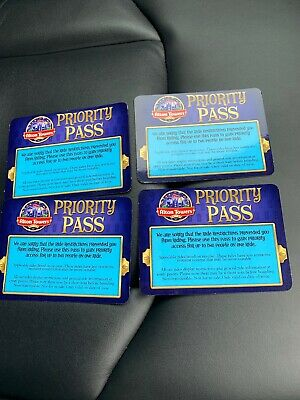 Alton Towers Fastrack Priority Pass x4