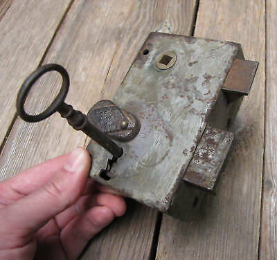 Old Iron Door Lock with WORKING KEY Industrial