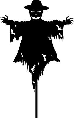 Scarecrow Halloween Decal Sticker Choose Color Size #981