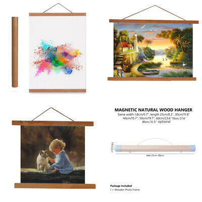 Magnet Wood Wooden Poster Frame Painting Scroll Nordic DIY Photo Picture Hanger