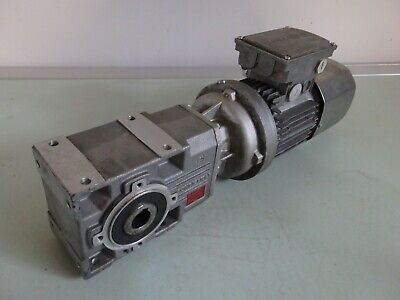 Single Phase 0.12kw Bonfiglioli Motor and Gearbox 19rpm output 18mm Bore