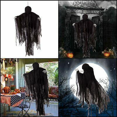 HOT 5 Ft Dark Hanging Grim Reaper HALLOWEEN Ghost Horror Robe Decorations SCARY
