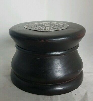 Beautiful Wooden Storage Box (Diameter - 13 cm)
