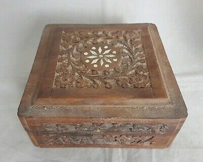 Beautiful Vintage Wooden Storage Box