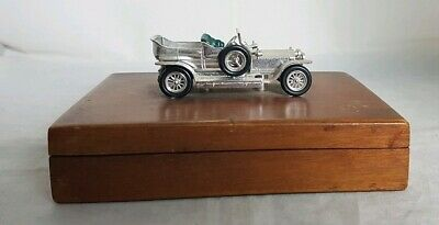 Beautiful Vintage Car Themed Small Wooden Storage Box