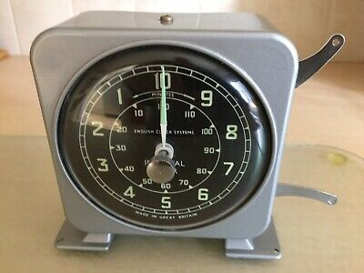 VINTAGE INDUSTRIAL 1950's RARE SMITHS INTERVAL CLOCK TIMER ENGLISH CLOCK SYSTEMS