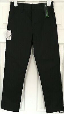 New with Tags NEXT Slim BLACK SCHOOL TROUSERS - BOYS AGED 11 YRS - Flat Front