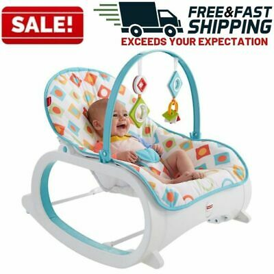 Infant Toddler Rocker Baby Swing Bouncer Portable Child Rocking Sleeper Chair