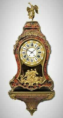 Huge Red boulle clock & bracket Lenoir Paris late 18thC case inlay intact & runs