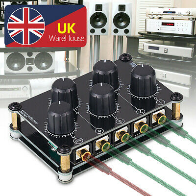 Mini 4 Channel Line Mixer for Live Studio Recording Portable Stereo Audio Mixer