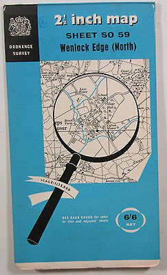 1959 Old OS Ordnance Survey 1:25000 First Series map SO 59 Wenlock Edge North