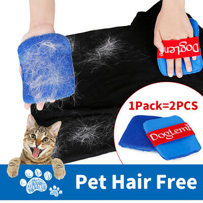 2Pcs Pet Hair Removal Clothes Sofa Brush Cloth Cats & Dogs Cleaning Home  SP