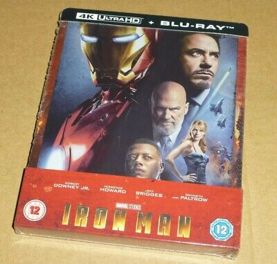 Iron Man - 4K Ultra HD + Blu-ray, UK Exclusive STEELBOOK, Marvel,  *In Stock Now
