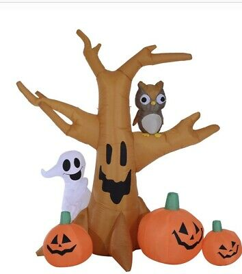 HOMCOM 7.5' Tall Outdoor Lighted Airblown Inflatable Halloween Decoration - Ha