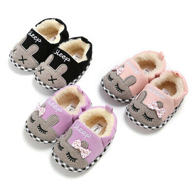Fasion Newborn Baby Boy Girl Soft Sole Crib Shoes Pram Shoes Trainers Size 0-18M