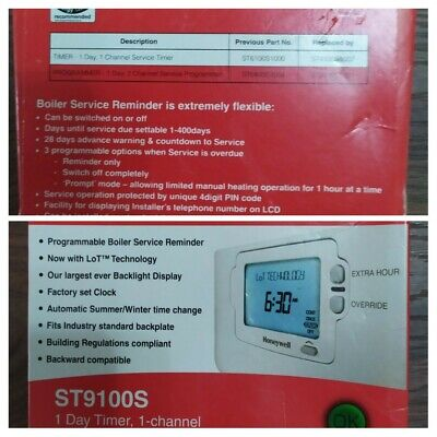 Honeywell-ST9100S-1-CHANNEL-PROGRAMMER-WITH-BOILER-SERVICE-REMINDER