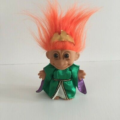 Vintage Russ Queen Guinevere Troll Doll With Orange Hair Retro 90's Collectable