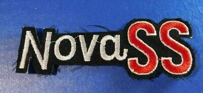 """Vtg Chevy Nova SS Embroidered Patch Iron On 3 7/8"""" x 1 3/8"""" Long  New & Unused"""