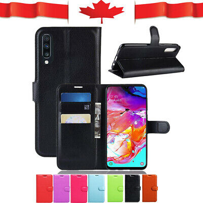 For Samsung Galaxy A70 Wallet Leather Card Holder Flip Shockproof Case Cover