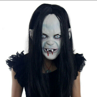 Halloween Zombie Mask Props Grudge Ghost Hedging Long Hair Ghost Scary Mask US